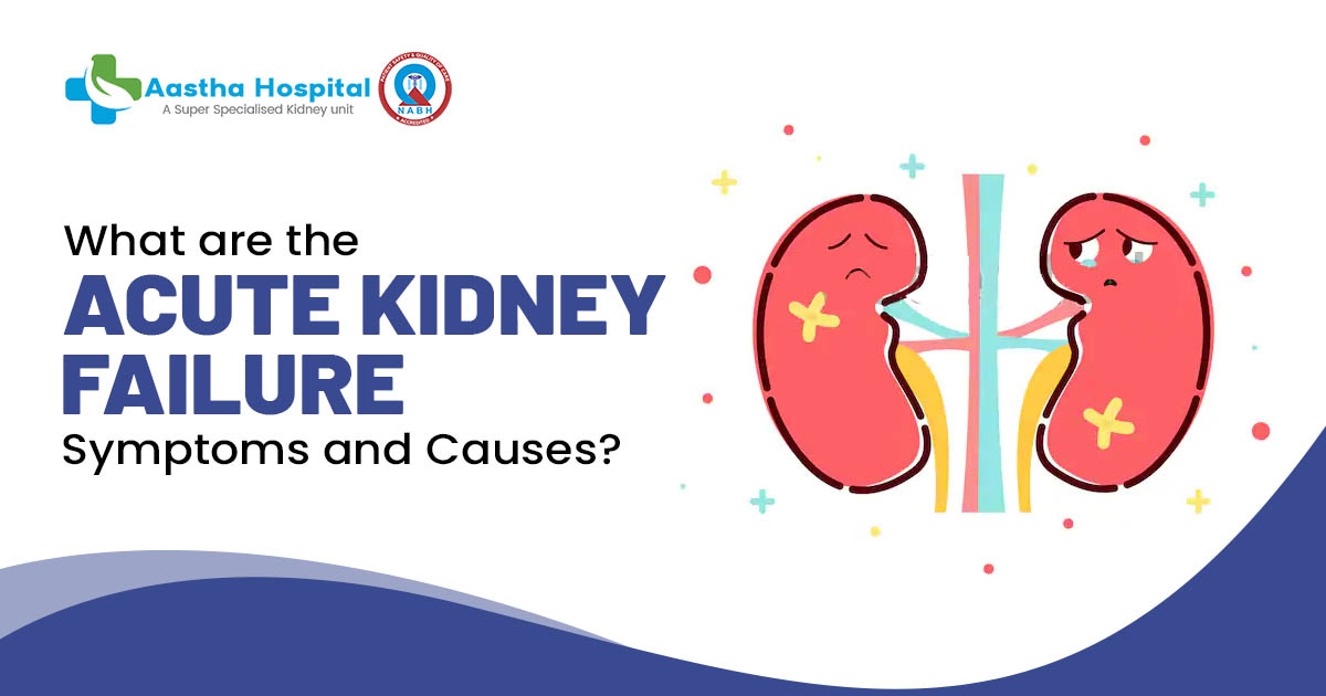 What are the acute kidney failure symptoms and causes?