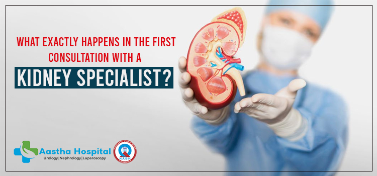 What exactly happens in the first consultation with a kidney specialist?